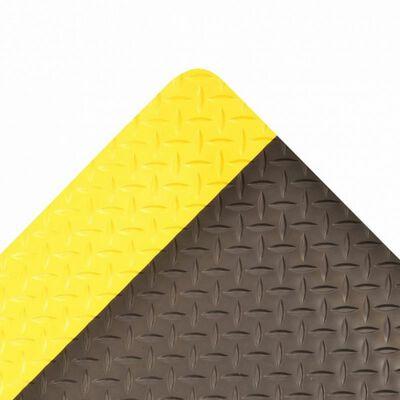 TAPETE ANTIFATIGA NOTRAX SADDLE TRAX 979 DE VINILO NEGRO C/AMARILLO DE 1 IN X 6 FT X 25 FT