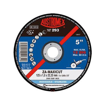 DISCO AUSTROMEX P/CORTE DE ACERO INOXIDABLE 293 ZA - MAXICUT DE 5 X 0.040 X 7/8 IN