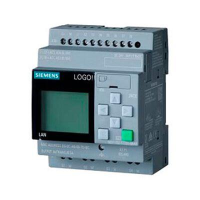 CONTROLADOR BASICO SIEMENS 6ED1052-1CC08-0BA0 LOGO 24CE CON DISPLAY SALIDAS A TRANSISTOR
