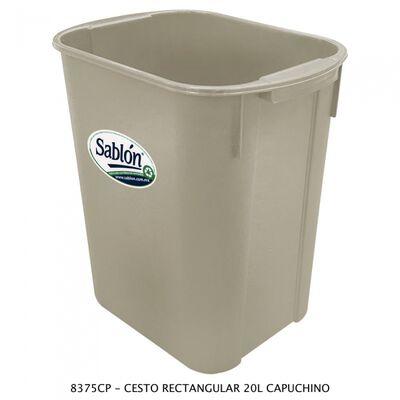 CESTO SABLON 8375CP RECTANGULAR CAPUCHINO 20L