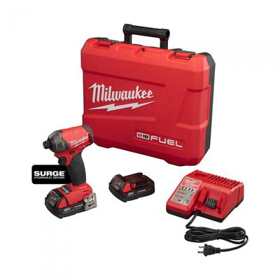 KIT DE DESTORNILLADOR MILWAUKEE HIDRAULICO HEXAGONAL M18 FUEL SURGE DE 1/4 IN