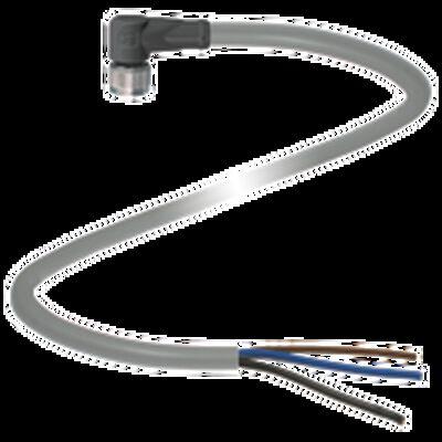 CABLE PEPPER+FUCHS V3-WM-5M-PVC CONECTOR ANGULADO HEMBRA M8 3 POLOS 48 VAC/60 VCC