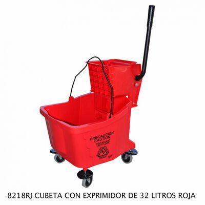 CUBETA SABLON 8218RJ EXPRIMIDOR ROJA 32L ROJO