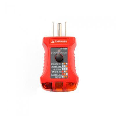 COMPROBADOR DE SOCKET AMPROBE ST102B TIPO GFCI 110125 V AC 0.3 W